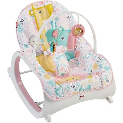 baby girl chair posture armchair bouncer seat newborn infant toddler rocker vibration fisher price pink