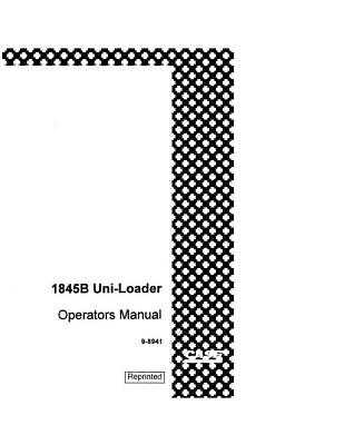 CASE 1845B UNI Loader Parts Manual Catalog Skid Steer