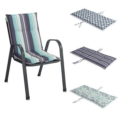 printed outdoor seat cushions highback dining chair pads garden patio furniture