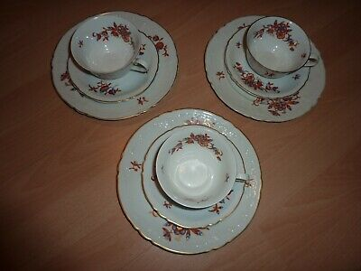 Porcelain Krautheim Selb Bavaria collection cup saucer cake plate