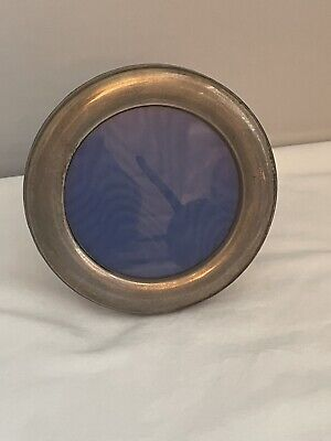 Sterling Silver Round Picture Frame By Broadway & Co Of Birmingham B & Co.