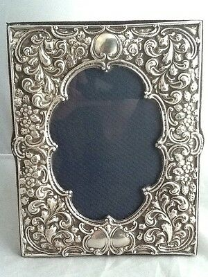 Superb Large Rococo Style Solid Silver Photo Picture Frame - Birmingham 1997