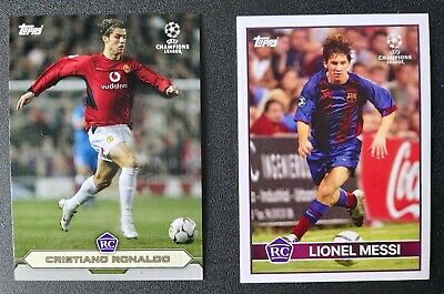 Topps The Lost Rookie card set Lionel Messi & Cristiano Ronaldo RC Rookie cards