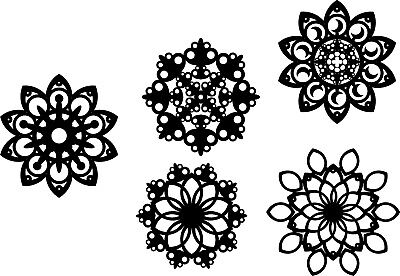 Clip art Christmas decorations collection dxf Cdr cnc