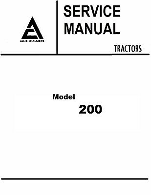 ALLIS CHALMERS G Tractor SERVICE, PARTS MANUAL, OWNERS