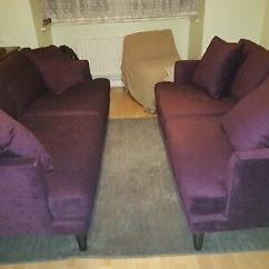 Plum Sofas Uk Sleeper With Air Mattress Reviews Next Velvet Stratus Iii Collection 2 Seater And 3 Rrp 1500