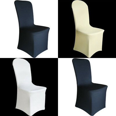 spandex chair covers wholesale canada ebay linen 50 100pcs white black fitted folding wedding lots universal fitting