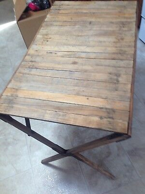 roll up vintage camping table