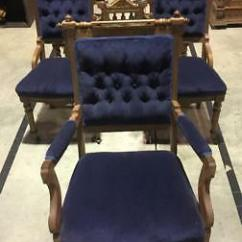 Eastlake Victorian Parlor Chairs Rattan Garden Chair Uk 5 Blue Velvet Dining Including Captain S
