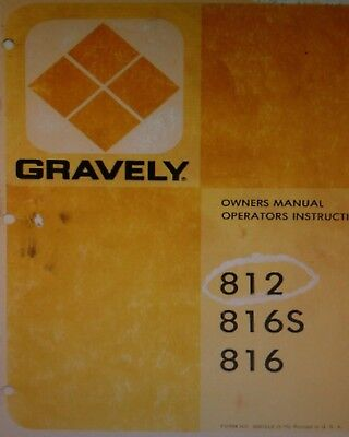 gravely 800 8000 8177 817 812 810 816s riding lawn garden tractor