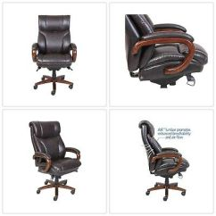 La Z Boy Trafford Big And Tall Executive Office Chair Vino Arm Pad Replacement Bonded Leather Tafford Swivel Brown By