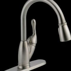 Delta Izak Kitchen Faucet Small High Top Table Single Handle Pull Down Sprayer Stainless 19939 Ss Dst