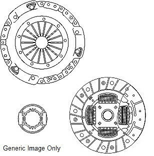 CLUTCH KIT 3PC (Cover+Plate+Releaser) fits FORD CORTINA 2