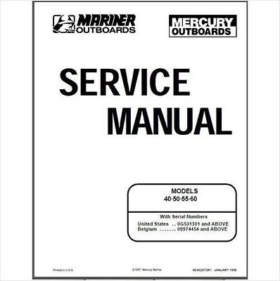 MERCURY MARINER 9.9 / 15hp 4 Stroke OEM Service Shop