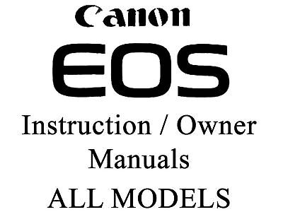 CANON INSTRUCTION MANUAL EOS30D Digital SLR FREE UK POST