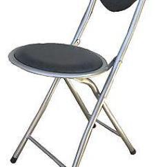 Folding Chair Round Swivel Accessories Portable Soft Padded Heavy Duty Frame Metal