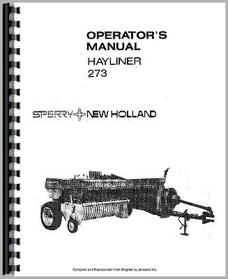 SPERRY NEW HOLLAND Square Baler Service Manual 269 270 271