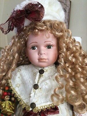 Brand New Large Leonardo Porcelain Doll Approx 21 With Certificate Authenticity  400