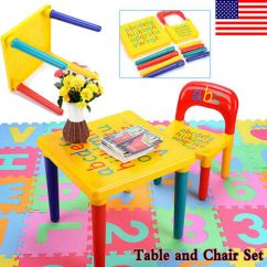 Toddler Chair Plastic Office Glides Child Kids Table And Set Activity Toy Play 1 Chairs Diy Fun Us