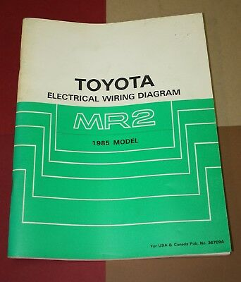 1985 toyota mr2 wiring diagram 2006 ford f150 trailer electrical manual schematic book 85 36709a