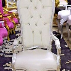 Baby Throne Chair Design Master Chairs Adorable White High Back 40 Tall Silver Finish