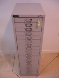 Bisley steel 2 drawer filing cabinet  10.00 - PicClick UK