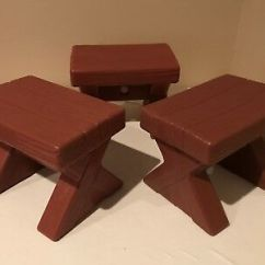 Step 2 Chair Adirondack Fire Pit Set Little Tikes Kids Plastic Bench Stool Seat Wood Look Lot Of