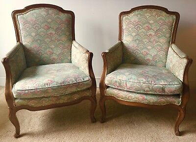 french bergere chair monogrammed beach vintage pair provincial style chairs 325 00 picclick