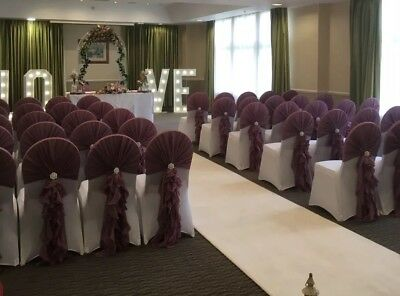 wedding chair cover hire west yorkshire leather reception room chairs self covers ruffle hoods leeds pontefract york