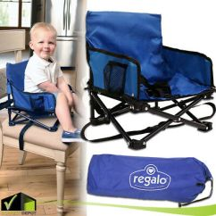 Regalo Portable Booster Activity Chair Striped Dining Chairs Lightweight Folding Travel & Feeding W Carry Bag - Cad $42.27 ...