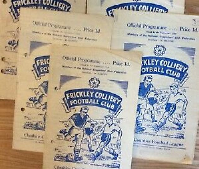 5 X Frickley Colliery Home Programmes From