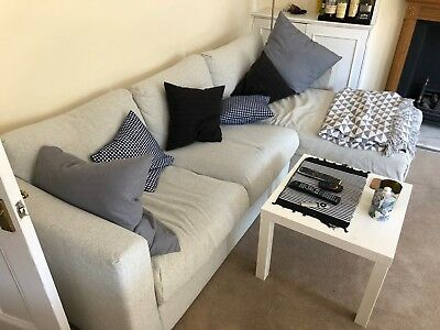 Ikea Vimle 3 Seat Sofa With Chaise Longue In Light Grey In Amazing Condition