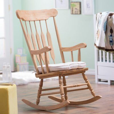 wooden rocking chairs nursery electric stair chair lift cost belham living windsor indoor wood espresso 117 99 traditional classic spindle styled natural rocker