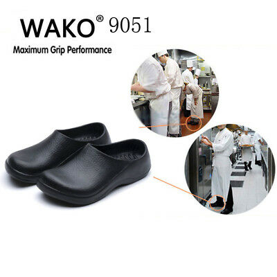 kitchen safe shoes gold faucets chef clogs comfort non slip stico bathroom water oil 9051 mens cook black