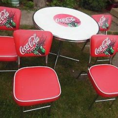 Coca Cola Chairs And Tables Squirrel Chair Feeder Table 4 105 00 Picclick