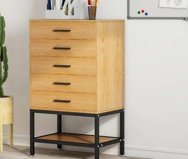 File Cabinet Collection   Drawer Dresser Tall Accent Chest With Open Storage