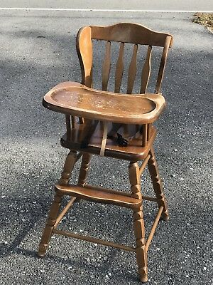 antique wooden high chair cane supplies vintage jenny lind style highchair medium wood stain hedstrom