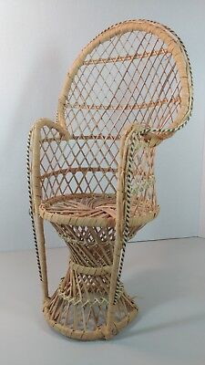 fan back wicker chair stability ball for classrooms adorable vintage mini peacock rattan nice