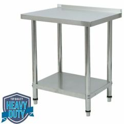 Kitchen Prep Table Small Design Photos New Stainless Steel Commercial Work Food 30 X X24 Shelf