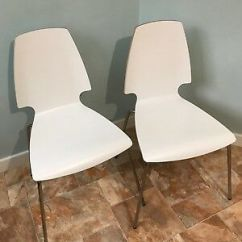 Vilmar Chair Instructions Neutral Posture Guardian 2x Ikea Dining Chairs In White Chrome Plated Legs 15 00