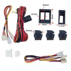 Power Window Fort Universal 12v Dc 2002 Ford F350 Stereo Wiring Diagram Switch Kits With Harness Car High Quality