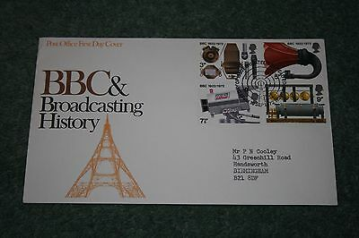 Post Office First Day Cover BBC & Broadcasting History 1972. Bureau Cancellation