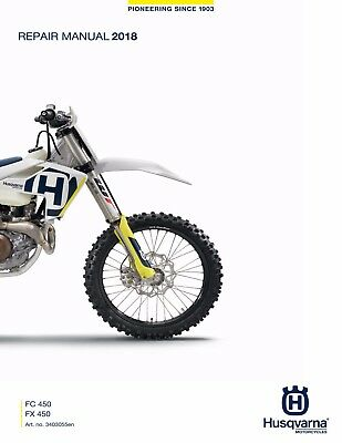 HUSQVARNA WORKSHOP SERVICE manual 2017 FC 450 & FX 450