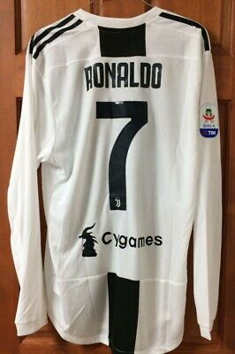 Cristiano Ronaldo Juventus Turin adidas player issue authentic jersey shirt long