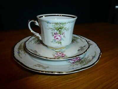 Bavaria Mitterteich porcelain collective cover, collecting cup, cup saucer plate