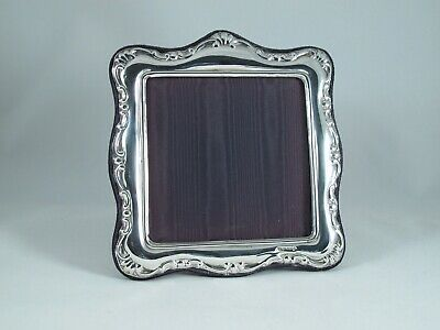 """Solid Silver Photo / Picture Frame 3.75"""" X 3.75"""" Excellent Condition"""