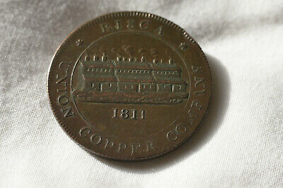 Risca Copper One Penny Token Union Copper Company 1811 Payable In Birmingham