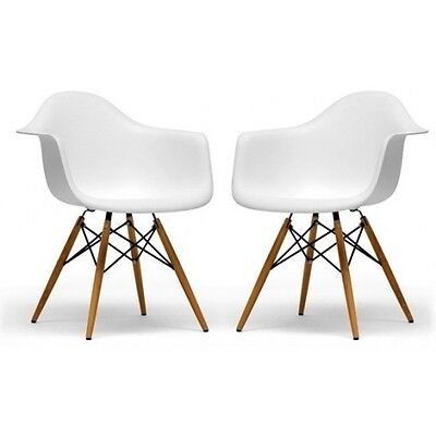 eiffel chair wood legs french white dining chairs set of 2 arm leg eames molded with dowel base
