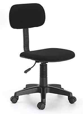 armless chair office extra large saucer new hodedah executive task black height adjustable seat