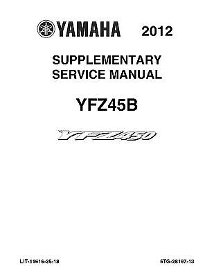 Yamaha yfz450s atv complete workshop repair manual 2003